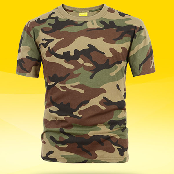 Unisex cotton camouflage shirt for wholesale
