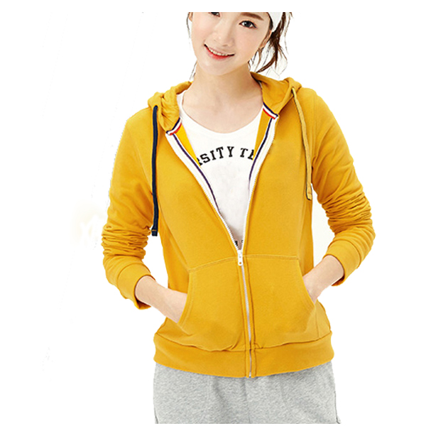 women fitness 65% polyester 35% cotton personalized hoodies cheap