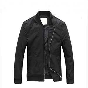 Long sleeve black jacket wholesale for men