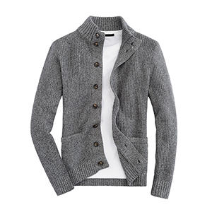 Long sleeve men jacket with button