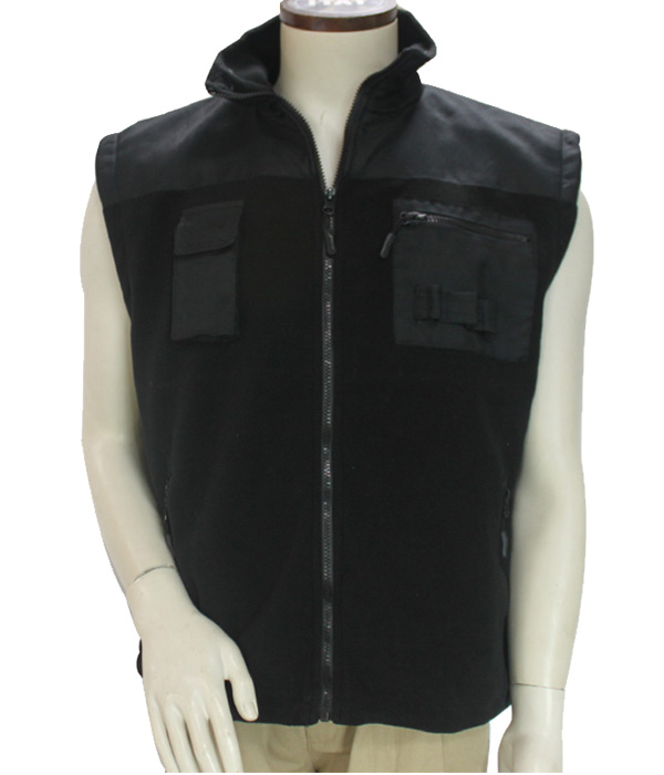 men plain outdoor cotton and polyetser black jacket for men