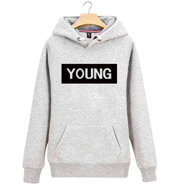 High Quality Black Cotton Women Printing Pullover Hoodie
