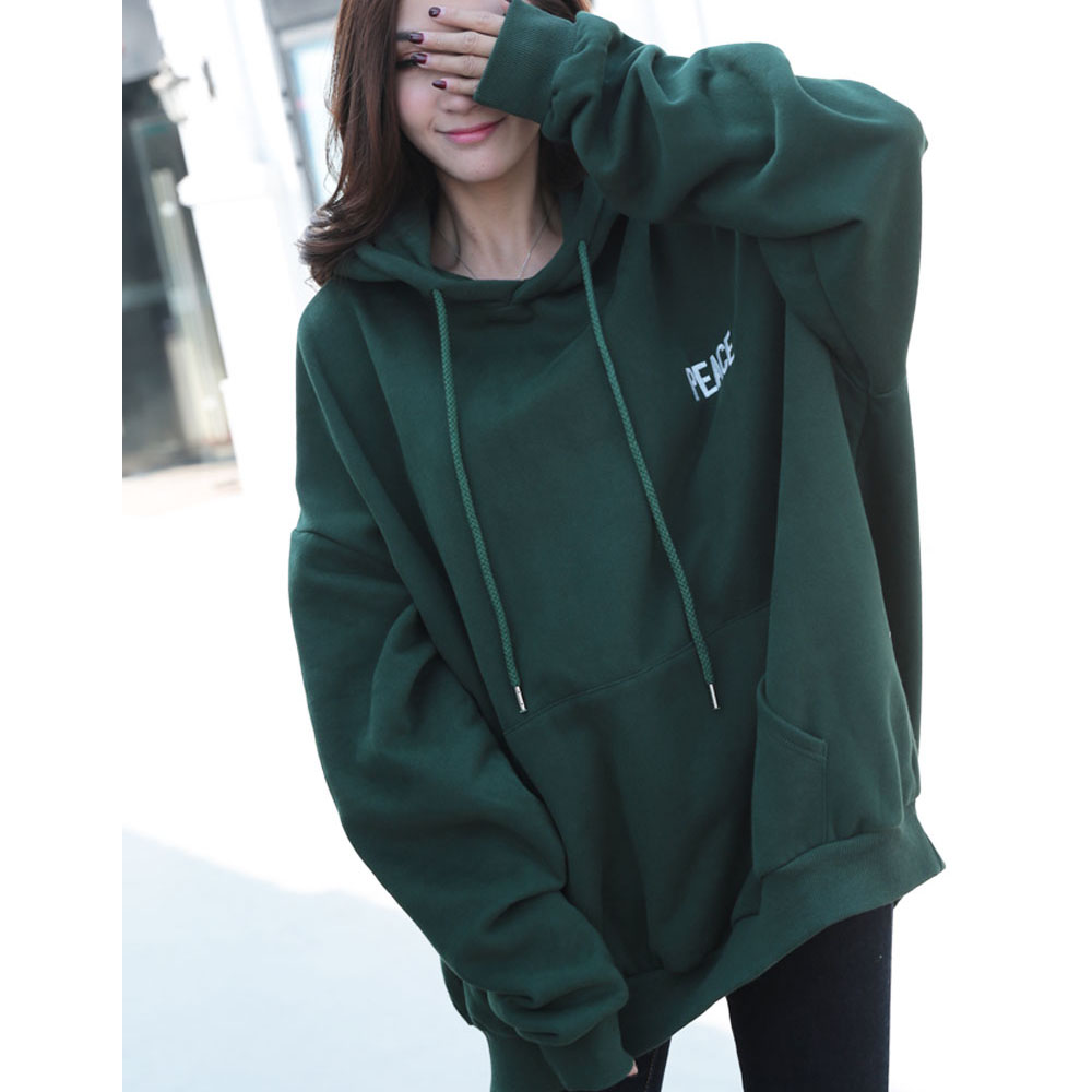 embroidered oversize women custom logo sweatshirts with hoods(YK-12292)