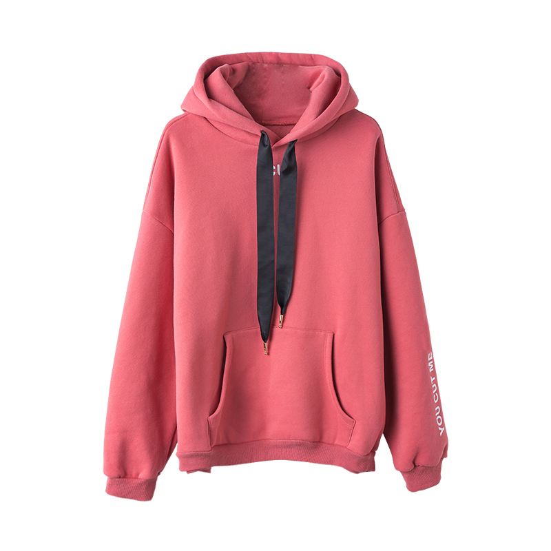 280 GSM CVC 80/20 Silk Screen Printing Hooded Sweatshirt Women Hoody