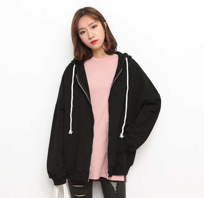 Wholesale Supplier Custom Women Oversize Zip Up Sweatshirts