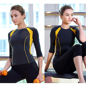 2016 sports top half sleeve two colors yoga fitness shirts quick dry yoga wear
