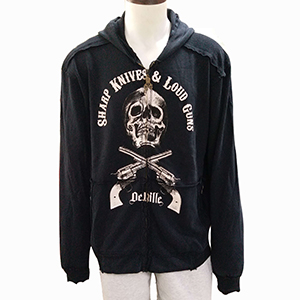 Discharge Print 100% Cotton 220 GSM Jackets with Hoodies