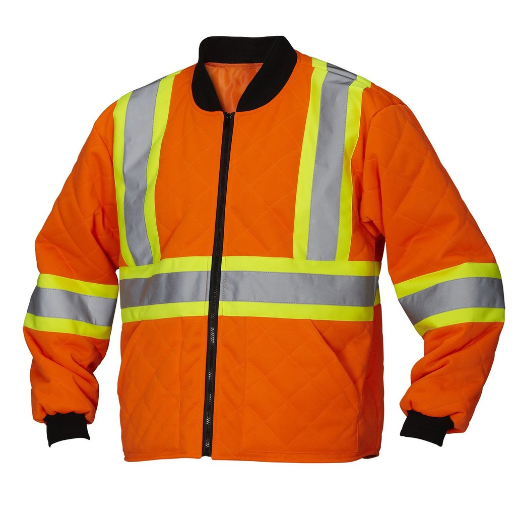Wholesale custom hi-visibility reflective safety freezer jacket