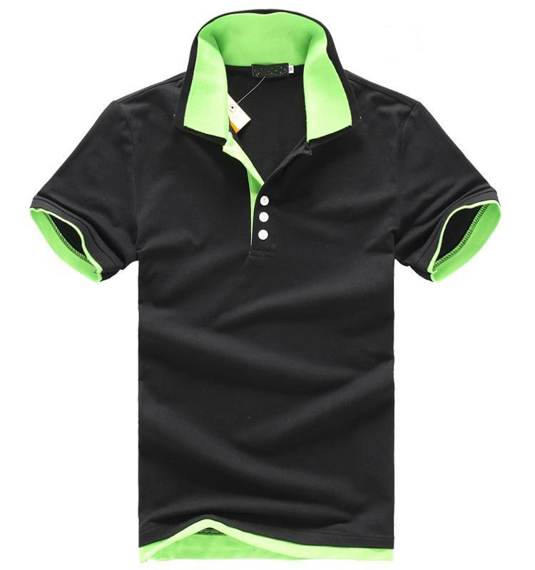 dri fit two color golf polo shirt