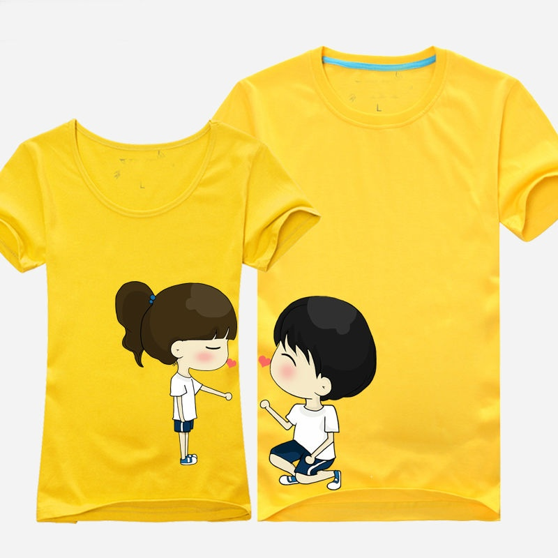 OEM Custom Cute Couple T Shirt Design