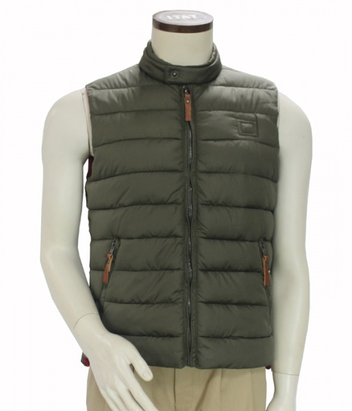 Men Fashion Cold Weather Winter Sleeveless Puffy Vest High Neck Hooded