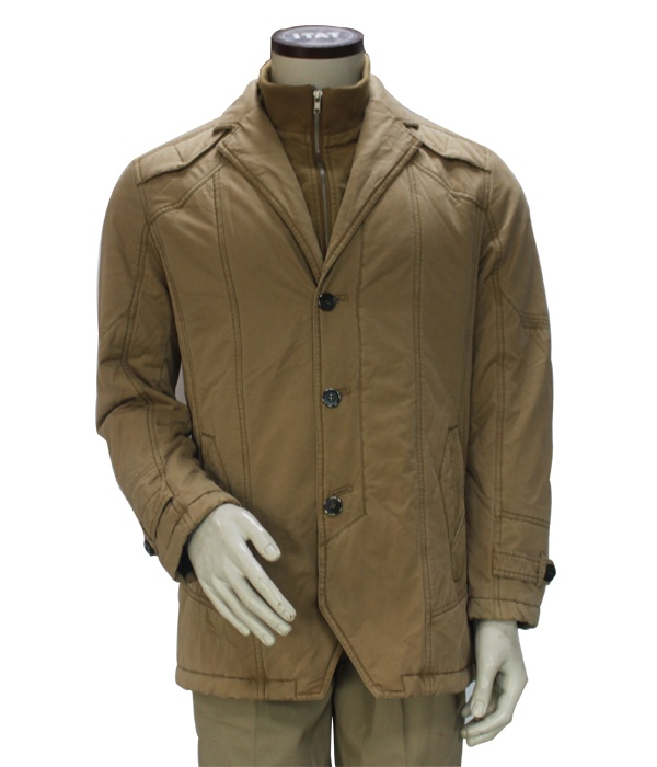 double stand collar winter overcoat