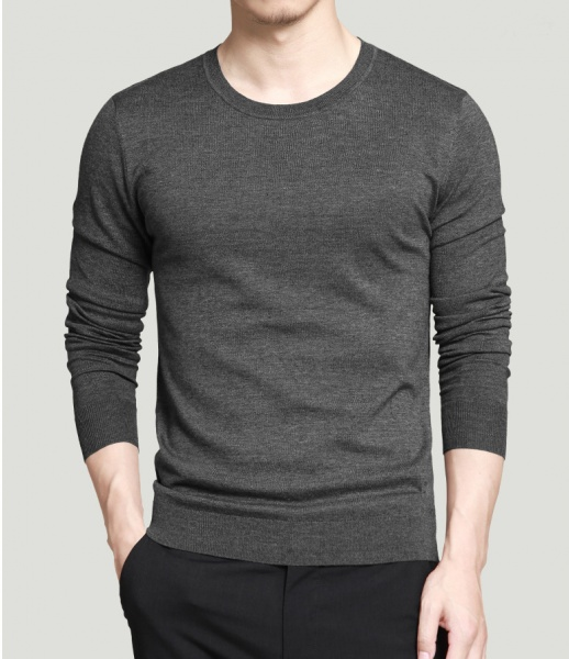 Premium quality fashional long sleeve black t shirt